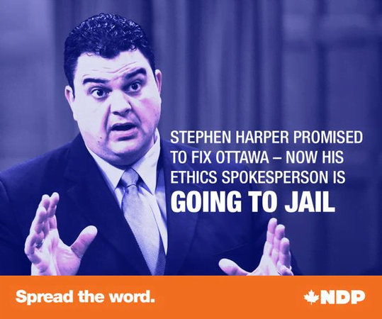 Spread the word: Harper's Ethics Guy is Going to Jail