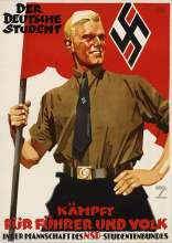 """The German student fights for the Führer and the people in the team of the NSD student federation"""