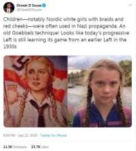 Greta Thunberg compared to Nazi propaganda girl on twitter