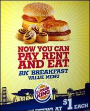 burger kind ad taking about high costing rent
