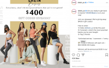SHEIN USA advertisement - Gift Code Giveaways