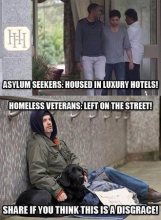 Housing for Asylum Seekers vs. US Vets