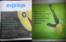 Lack of Gun Control is Bananas Oxfam Campaign