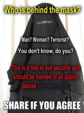 Meme says burqa are a security threat